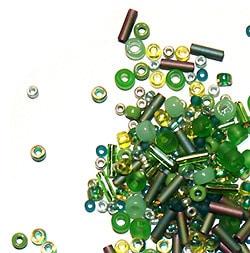 toho green01 Плетем деревья из бисера: 5 ошибок новичков.