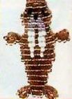 Схемы плоских фигурок из бисера.