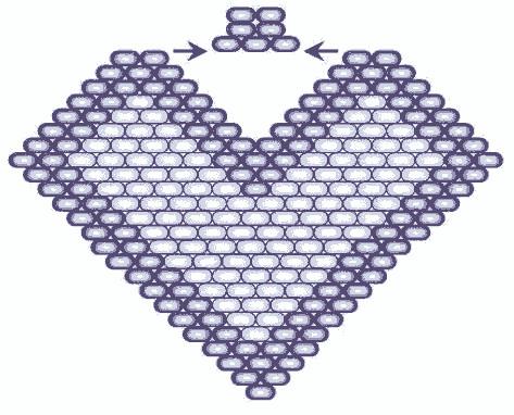 """Серьги """"Листики"""", в технике кирпичного плетения."""